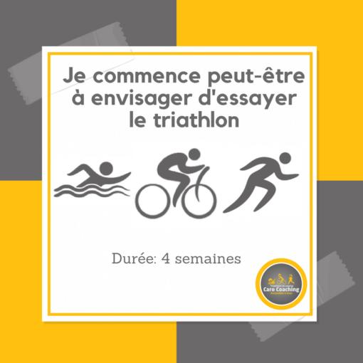 Je commence peut-être à envisager d'essayer le triathlon